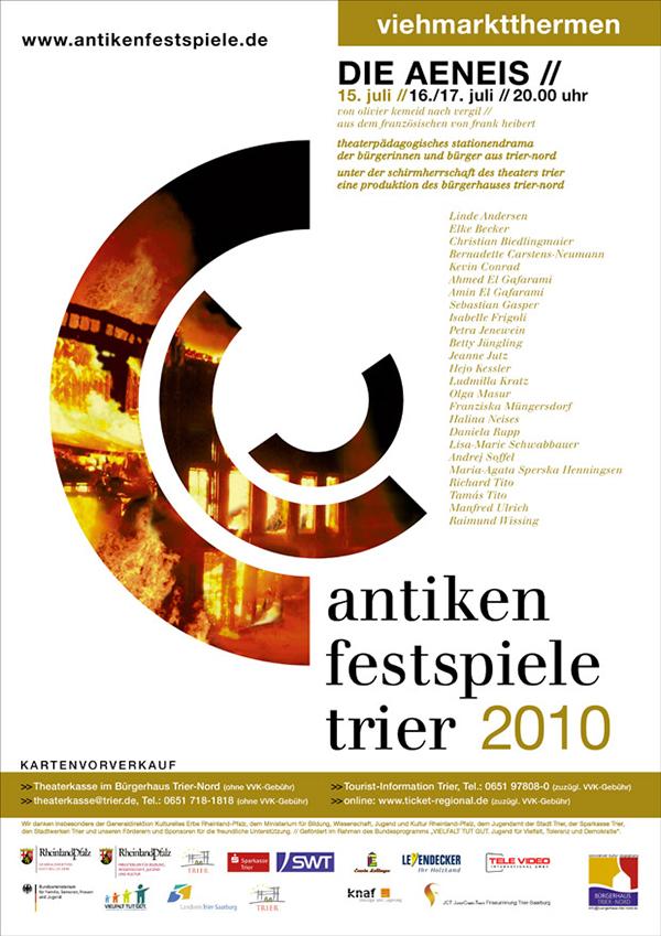 Plakat Die Aeneis von Olivier Kemeid